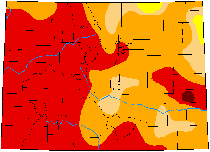 MAP Colorado Drought Conditions - September 15, 2020 - National Drought Mitigation Center