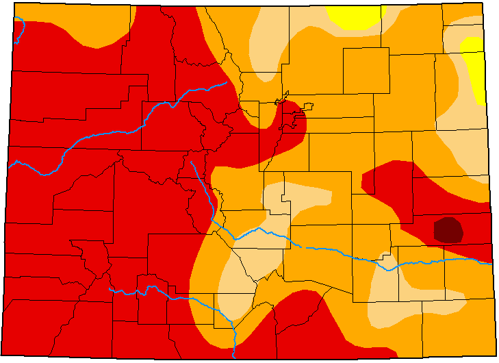 MAP Colorado Drought Conditions - September 22, 2020 - National Drought Mitigation Center