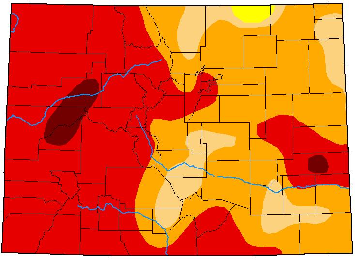 MAP Colorado Drought Conditions - September 29, 2020 - National Drought Mitigation Center