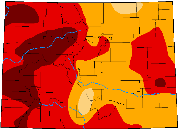 MAP Colorado Drought Conditions - October 13, 2020 - National Drought Mitigation Center