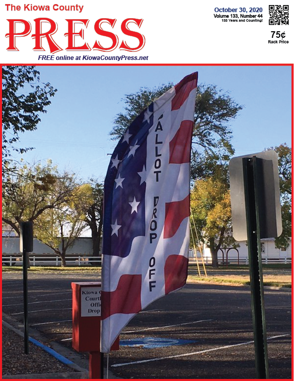 Photo of the Week - 2020-10-30 - Time is running out to cast your ballot in the November 3 election in Eads, Kiowa County, Colorado.