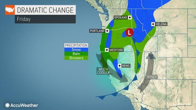 MAP Weather change coming November 6, 2020 - AccuWeather