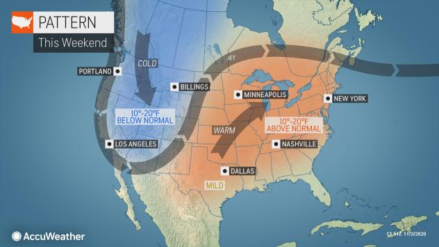 MAP Weekend weather pattern - November 7-8, 2020 - AccuWeather