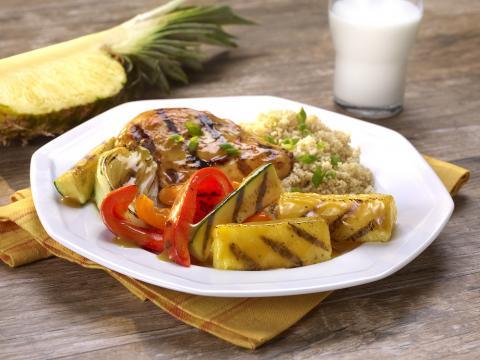 PICT RECIPE Grilled Pineapple Ginger Glazed Chicken - USDA