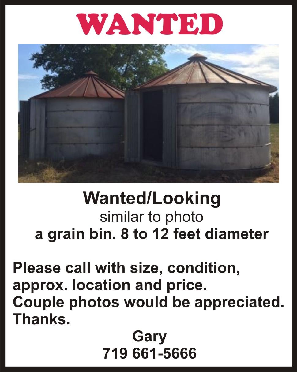 AD 2021-01 Wanted - Grain Bin