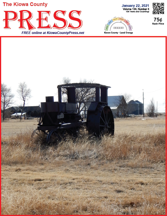 Photo of the Week - 2021-01-22 - historic farm equipment near Brandon in Kiowa County, Colorado - Jeanne Sorensen