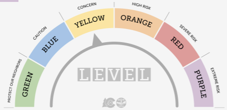 CHART Yellow COVID-19 Dial