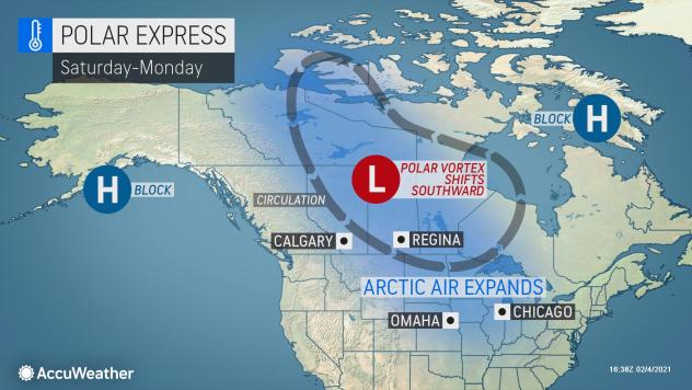 MAP Polar Express expanding February 6-8, 2021 - AccuWeather