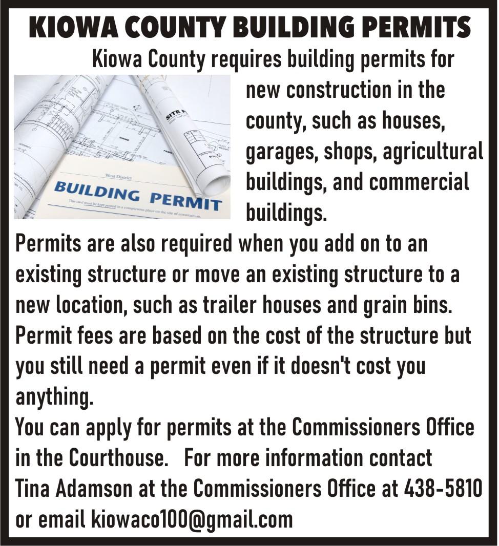 AD 2021-01 Kiowa County Building Permits