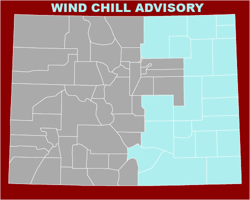 MAP Wind Chill advisory for February 12-15, 2021
