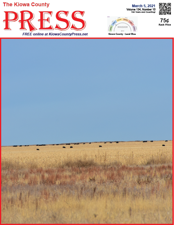 Photo of the Week - 2021-03-05 A view of the prairie and cattle grazing in Kiowa County, Colorado - Chris Sorensen