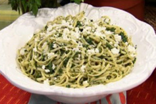PICT RECIPE spaghetti and spinach pesto - USDA
