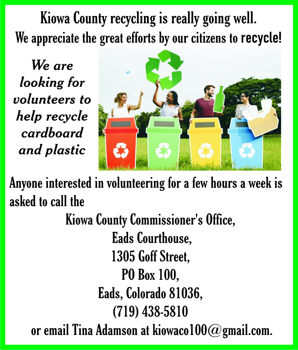 AD 2021-03 Community - Recycling Volunteers Needed