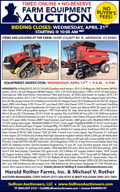 AD 2021-04 Auction - Farm Equipment