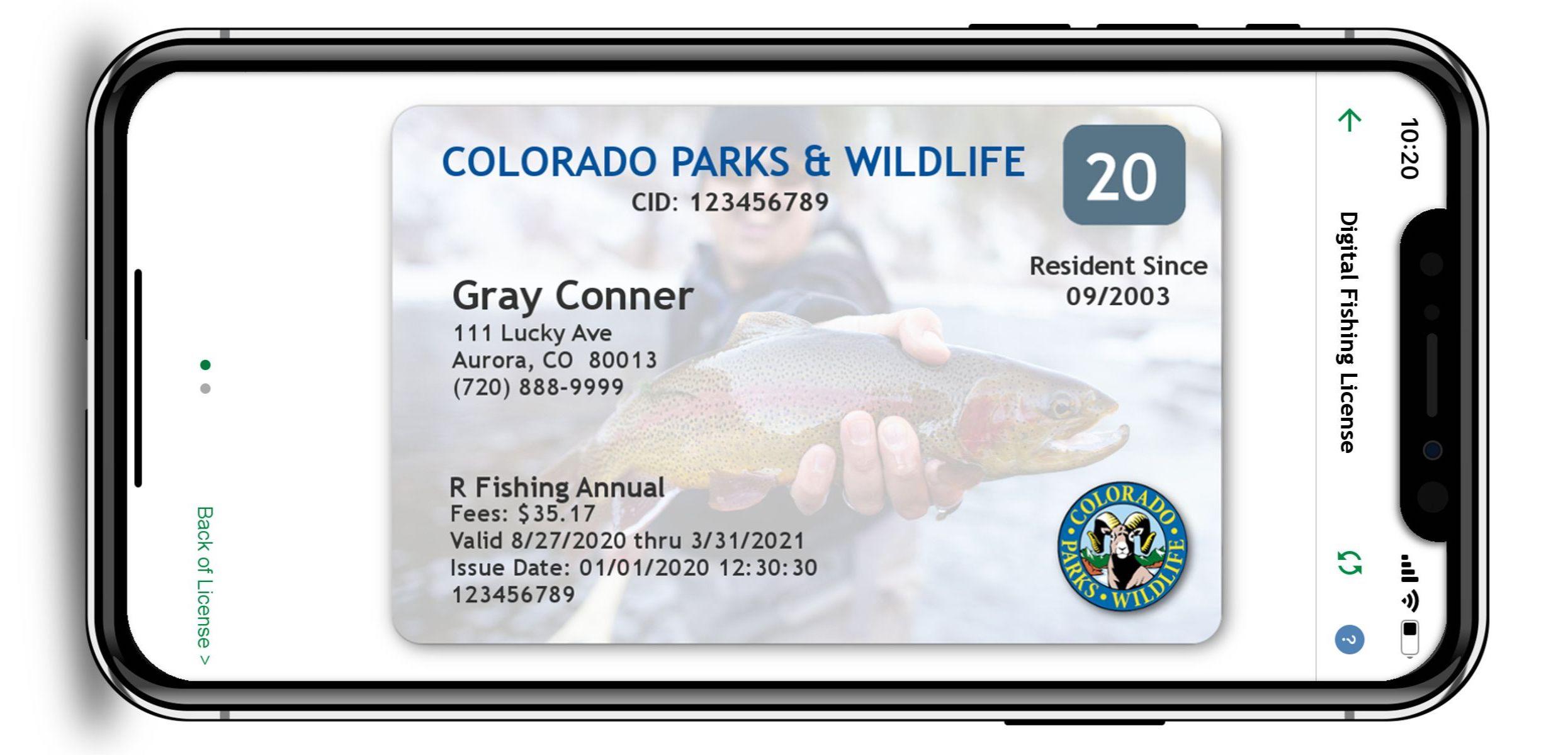 PICT Digital Fishing LIcense front