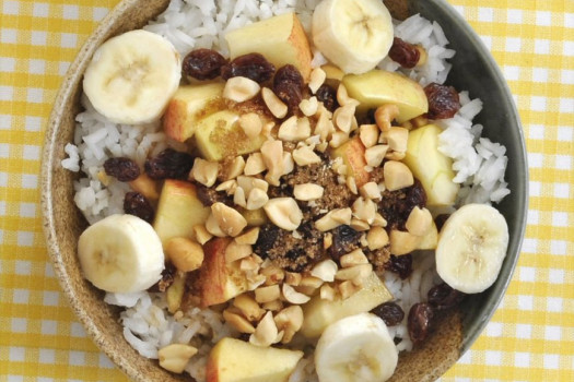 PICT RECIPE Rice Bowl Breakfast with Fruit and Nuts - USDA