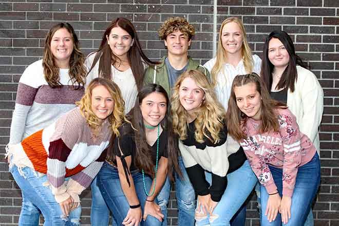 PICT KC 12 Grade Back Row Jordyn Weeks, Cally Rady, Sullivan Farmer, JaNae Voss, Layla McPherson Front Row Tieler Randel, Allison Gekeler, Faith Johnson, Shayla Horn