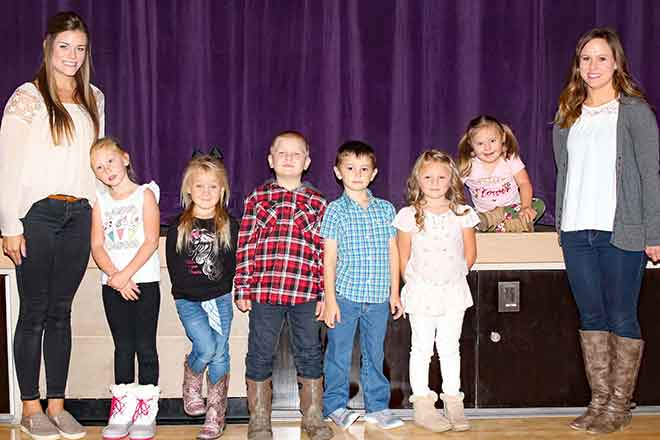 PICT KC Kindergarten Teacher Mrs  Ali Wells, Isabelle Plitz, Emily Echols, Bo Kent, Jett Dechant, McKenna Marriott, Paisley Gaynor, Para Kendra Bogenhagen