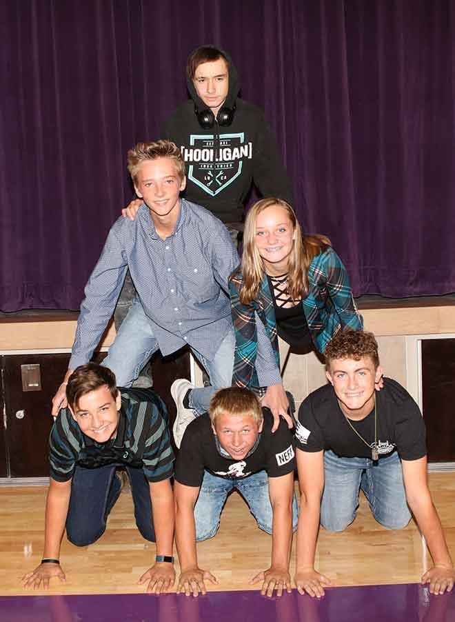 PICT KC 8th Grade Bottom Row Brennan Framel, Dillan Collins, Gunner Randel. Middle Row Josiah Irwin, Ashlee Koch Top Row Grayson McWilliams. Not Pictured Alianna Asuncion