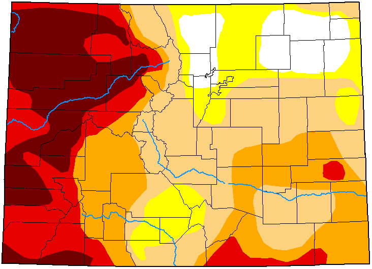 MAP Colorado Drought Conditions - May 4, 2021 - National Drought Mitigation Center