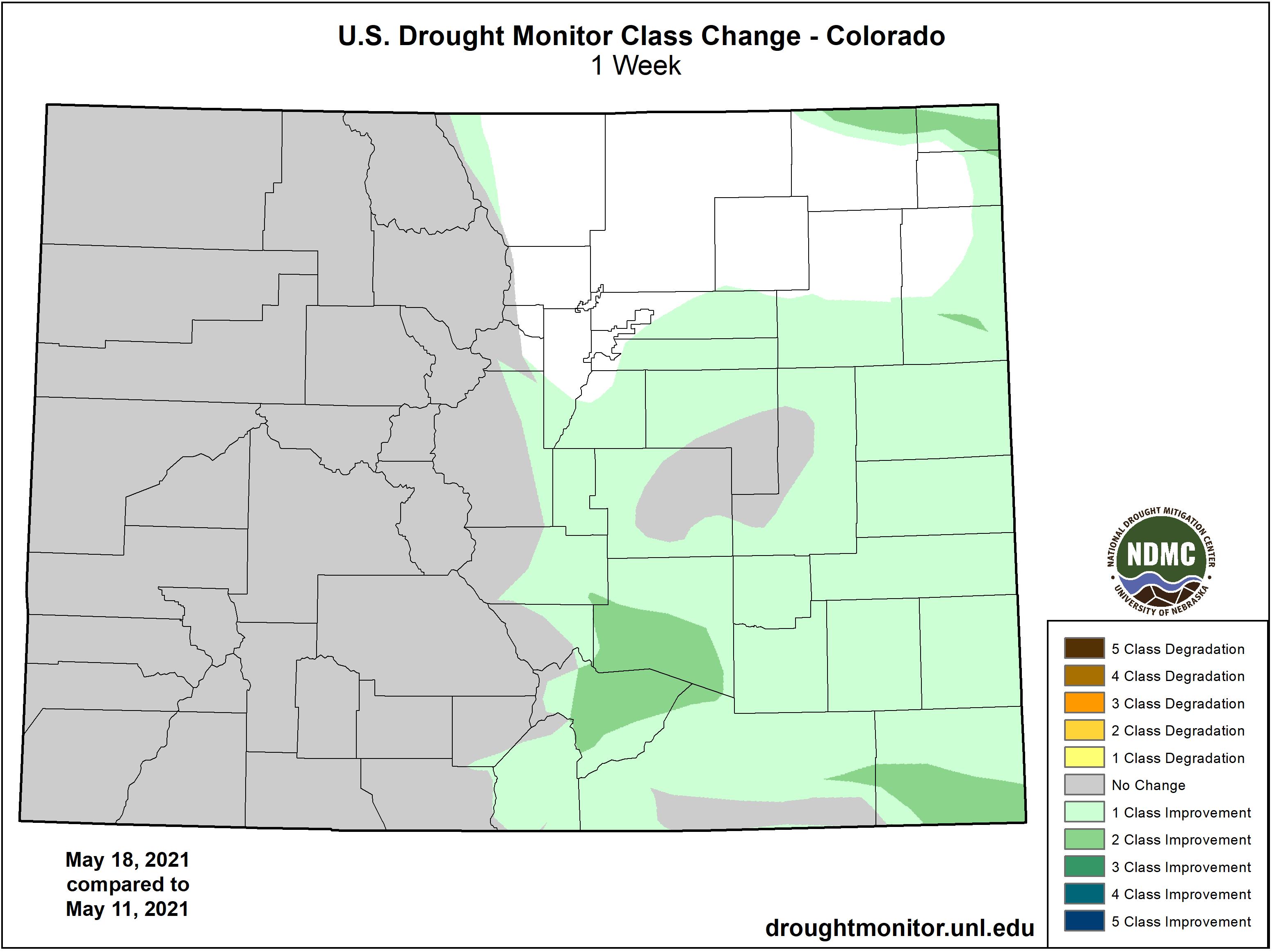 MAP Drought change between May 11 and May 18, 2021 - NDMC