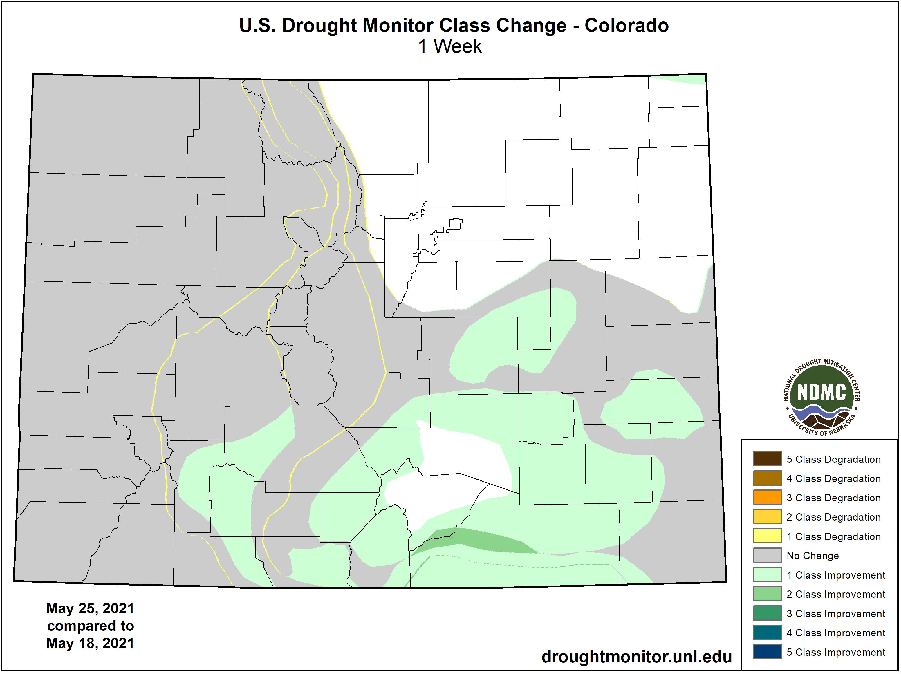 MAP Drought change between May 18 and May 25, 2021 - NDMC