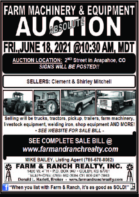 AD 2021-06 Auction - Farm and Ranch Realty