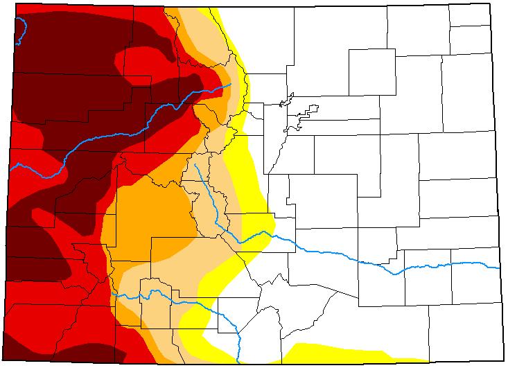 MAP Colorado Drought Conditions - June 1, 2021 - National Drought Mitigation Center