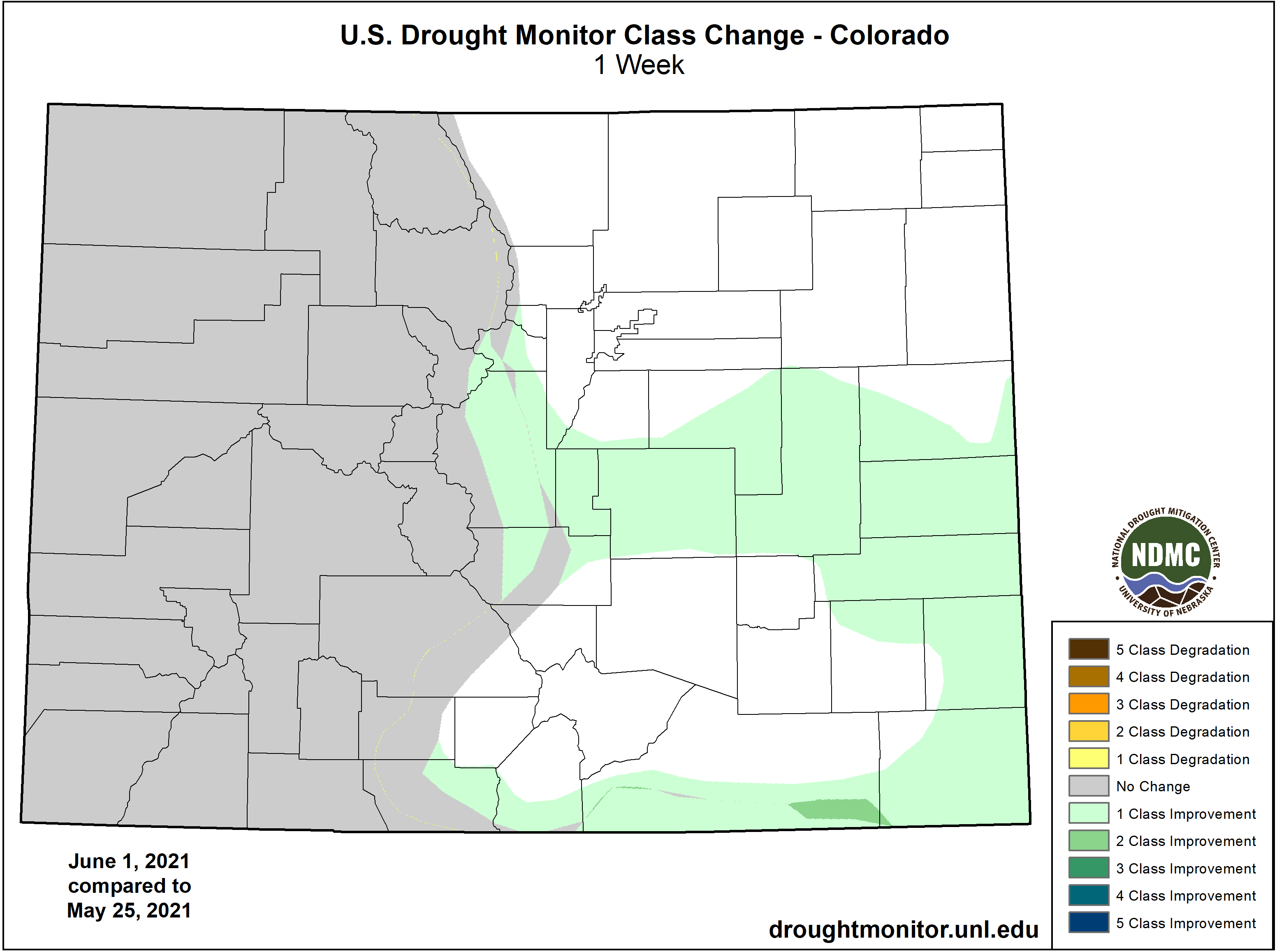 MAP Drought change between May 25 and June 1, 2021 - NDMC