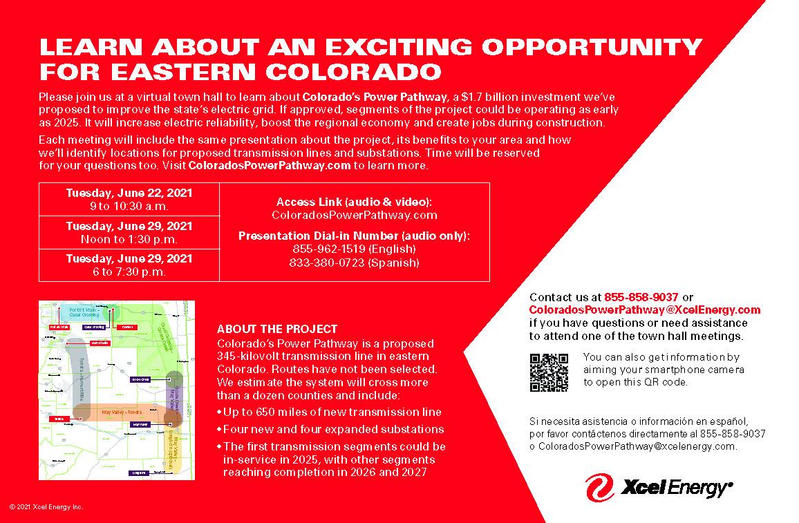 AD 2021-06 Town Hall - Colorado's Power Pathway - Xcel