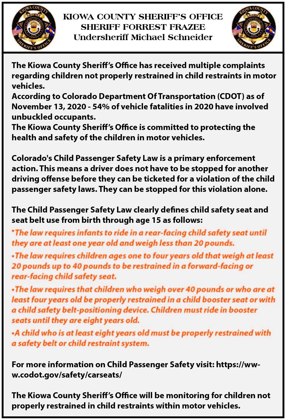 AD 2021-06 Community - Child Safety Seats