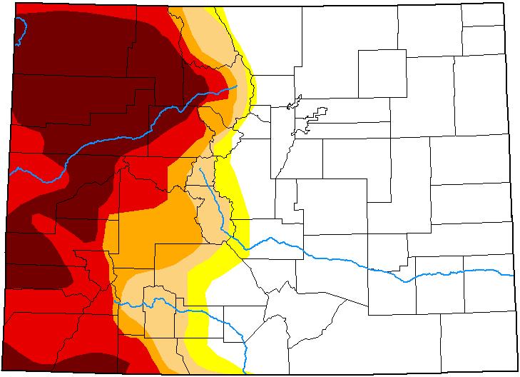 MAP Colorado Drought Conditions - June 15, 2021 - National Drought Mitigation Center
