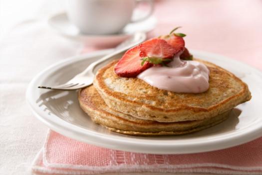 PICT RECIPE Whole Grain Strawberry Pancakes - USDA