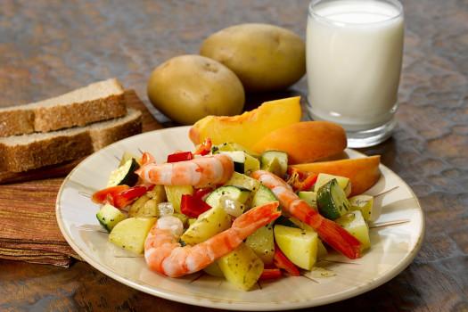 PICT RECIPE Yellow Potato and Red Pepper Shrimp Saute - USDA