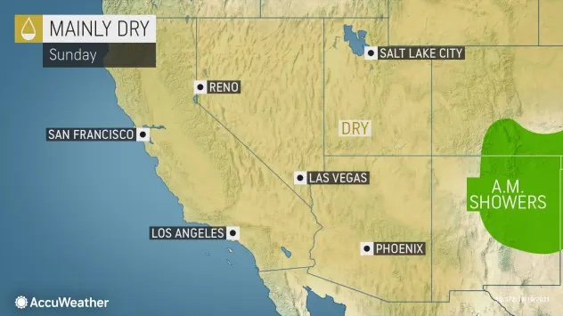 MAP Mainly dry conditions across the western United States October 10, 2021 - AccuWeather