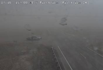 PICT Blowing dust reducing visibility near Firstview in Cheyenne County. Courtesy CDOT.