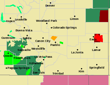MAP Tornado Warning for Central Kiowa County - June 17, 2019