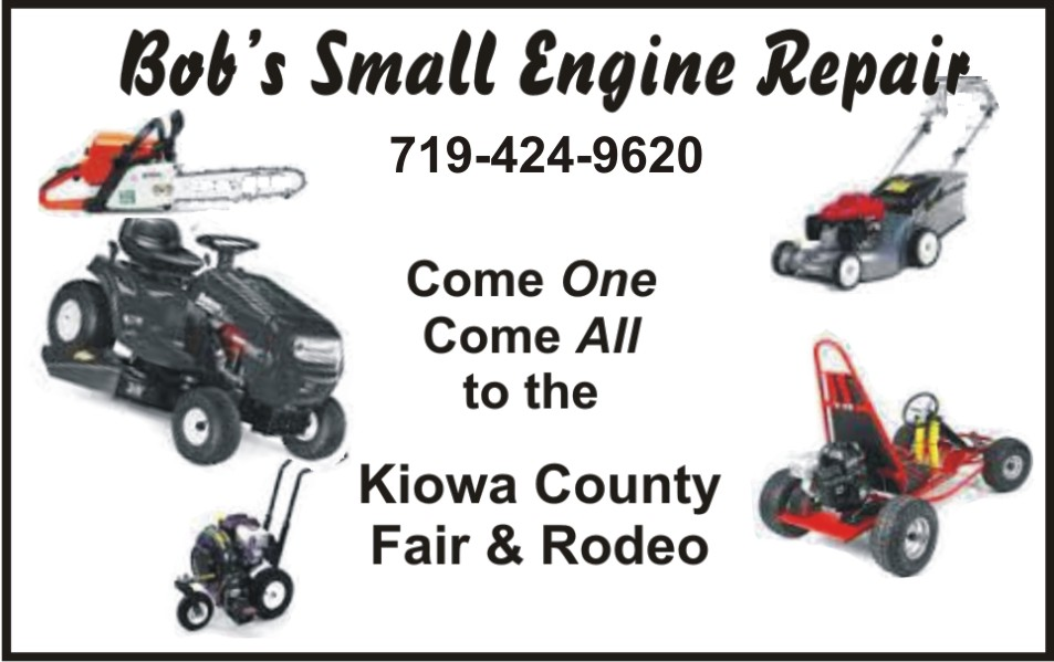 PICT 2019 Kiowa County Fair Sponsor - Bob's Small Engine Repair