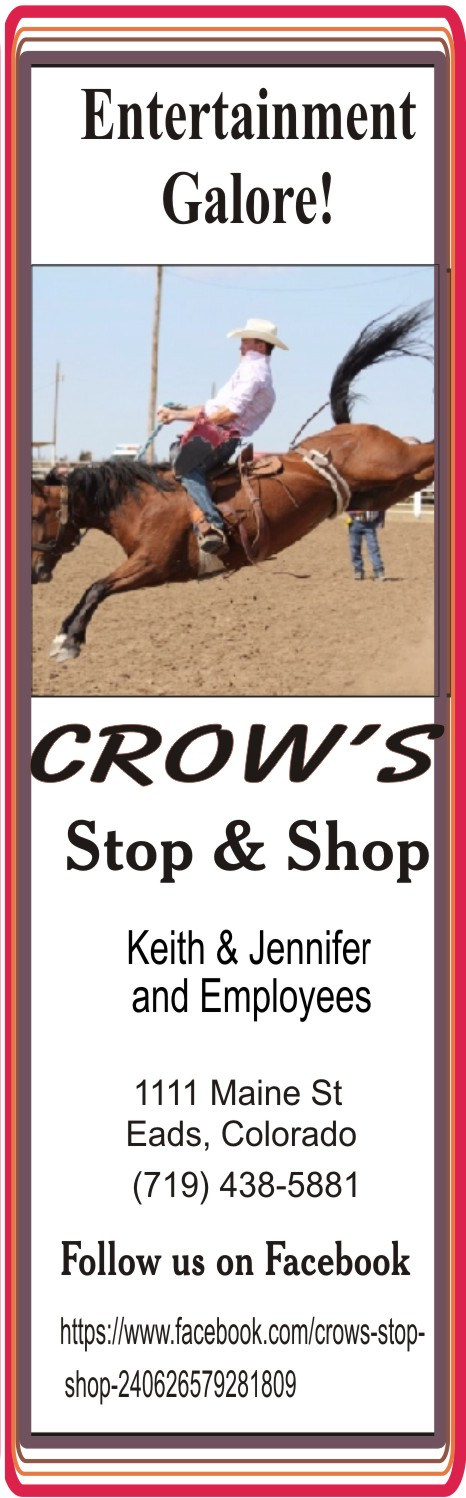 PICT 2019 Kiowa County Fair Sponsor - Crow's Stop and Shop