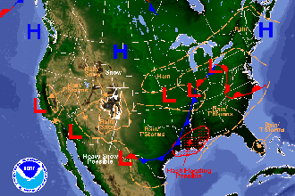 National Weather Map for May 1, 2016