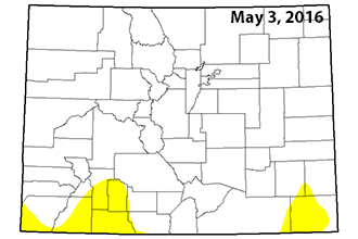 Colorado Drought Map - May 3, 2106