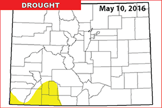 Colorado Drought Map - May 12, 2106