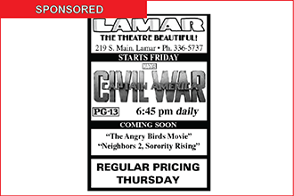Lamar Theatre Ad - May 27, 2016