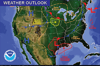 Weather Outlook - June 3, 2016
