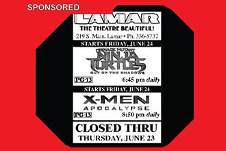 Lamar Theatre Ad - June 17, 2016