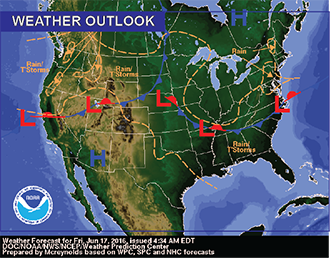 Weather Outlook - June 17, 2016