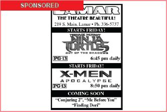Lamar Theatre Ad - June 24, 2016