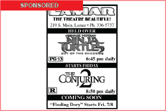 Lamar Theatre Ad - July 1, 2016