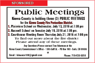 Public Meetings - Fire Protection District