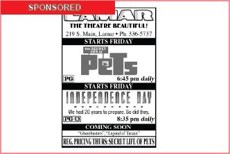 Lamar Theatre Ad - July 22, 2016